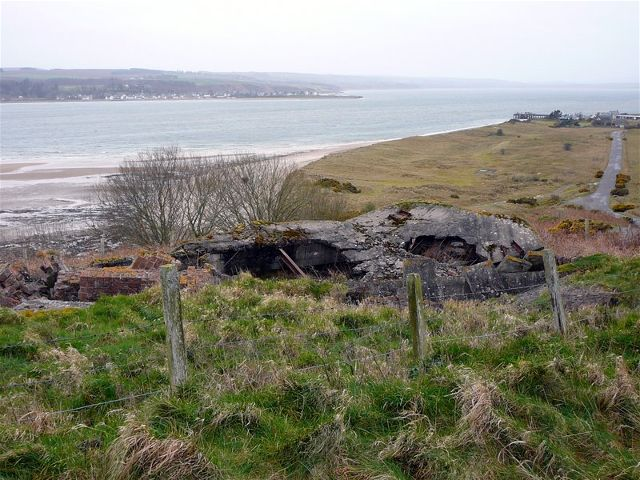 Old Wartime Gun Emplacements at Nigg