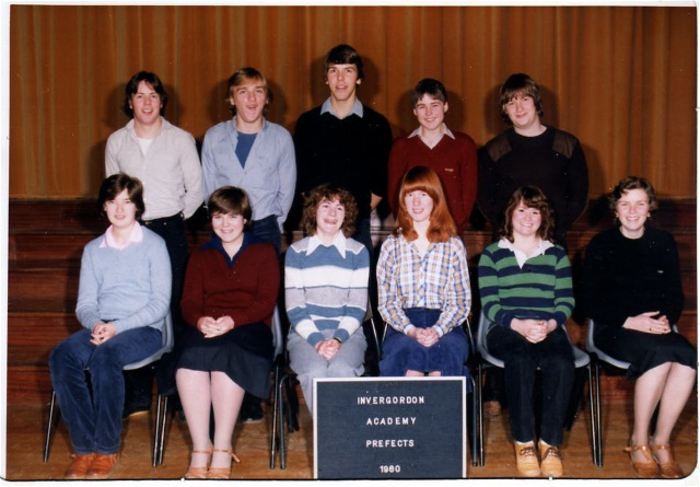 Invergordon Academy Prefects 1980